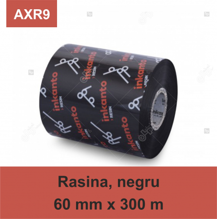 Ribon ARMOR Inkanto AXR9, rasina (resin), negru, 60 mm x 300 M, OUT0