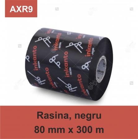Ribon ARMOR Inkanto AXR9, rasina (resin), negru, 80mmx300M, OUT0
