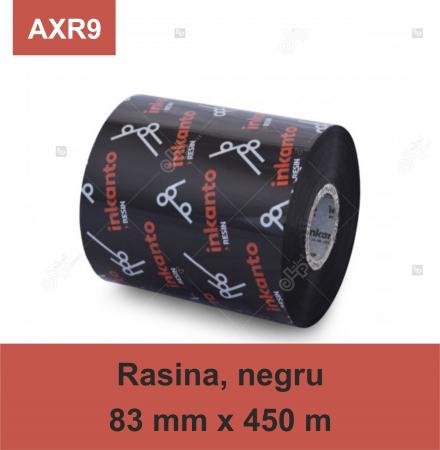 Ribon ARMOR Inkanto AXR9, rasina (resin), negru, 83 mm x 450 M, OUT0