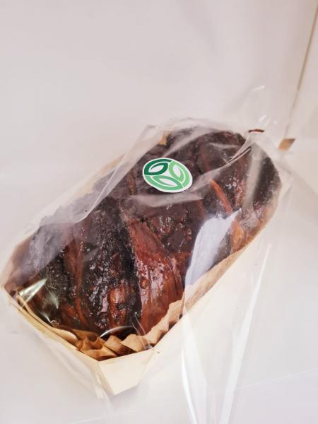 Cozonac artizanal insiropat in vinars, cu umlutura de nuca si cacao - 0,65kg 1