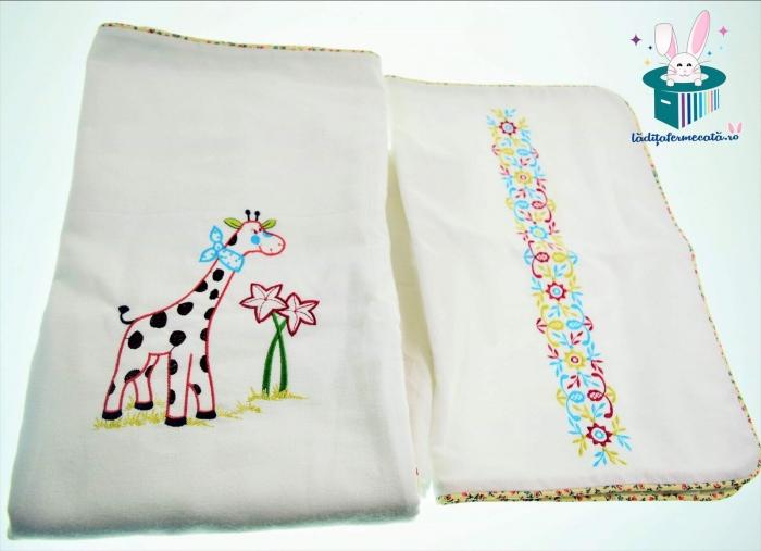 Lenjerie pat Girafa buclucasa 3