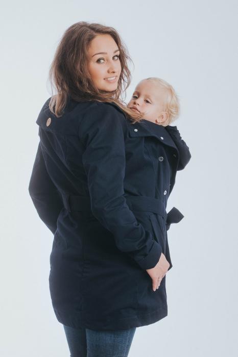 Geaca trench Babywearing Lenny Lamb- Bleumarin- marime XS 3