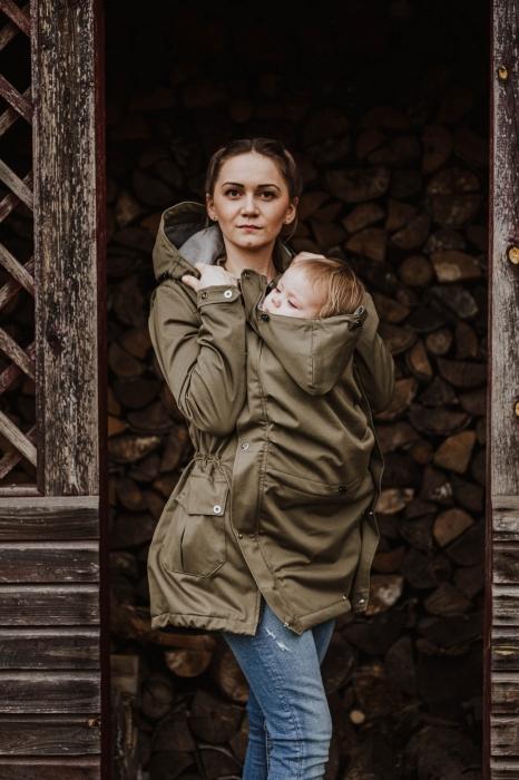 Geaca Babywearing Lenny Lamb- Khaki & Choice- marime XS 0