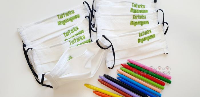 Masca reutilizabila pentru copii- cu nume brodat 3