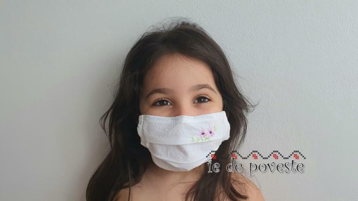 Masca reutilizabila pentru copii Spring Flower 0