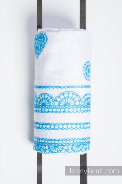 Pled mare- ICED LACE TURQUOISE & WHITE 1