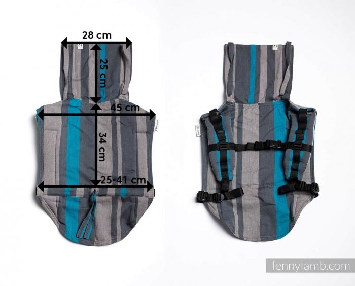 Onbuhimo Marsupiu ergonomic- Wawa Grey & Pink 3