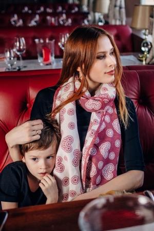 Esarfa Lace Cream & Red LennyLamb5