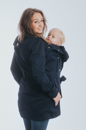 Geaca trench Babywearing Lenny Lamb- Bleumarin- marime XS3