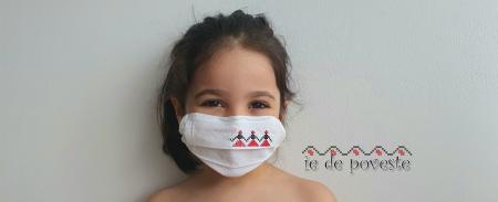 Masca reutilizabila Copii - Hora fetelor0