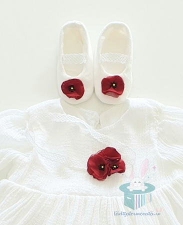 Set pantofiori si bentita Sweet Poppies0