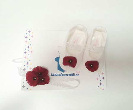 Set pantofiori si bentita Sweet Poppies1