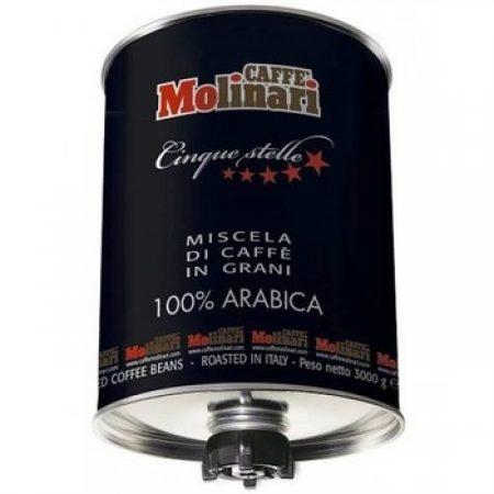 Cafea boabe Molinari Cinque Stelle 100% Arabica, 3kg 0