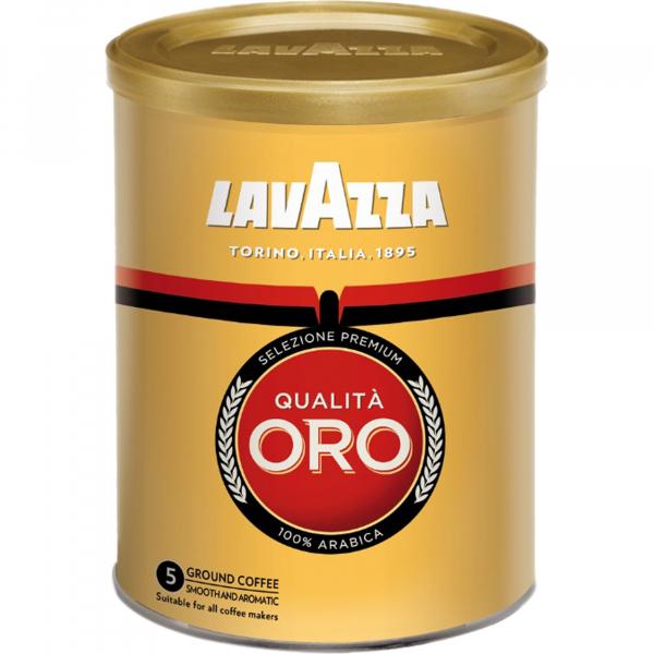 Cafea macinata in cutie metalica Lavazza Qualita Oro, 250g 0