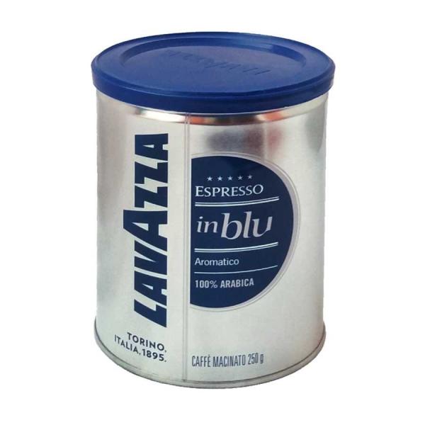 Cafea macinata in cutie metalica Lavazza inBlu Aromatico, 250g 0
