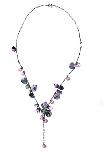 Colier Ana Popova Aurora Mint Rose 0