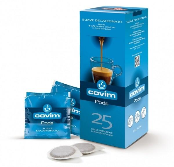 Monodoze cafea Covim Suave Decaffeinato compatibil ESE, 25 buc 0