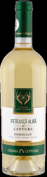 Vin Alb Demisec Feteasca Alba Cervus Cepturum, Crama Ceptura, 0.75 l 0