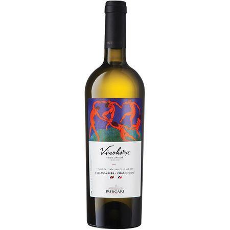 Vin Alb Sec Vinohora Feteasca Alba & Chardonnay, Crama Purcari, 0.75 l 0