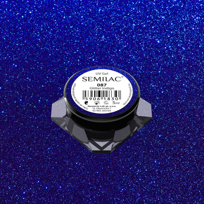 Gel Color Semilac 087 Glitter Indigo [0]