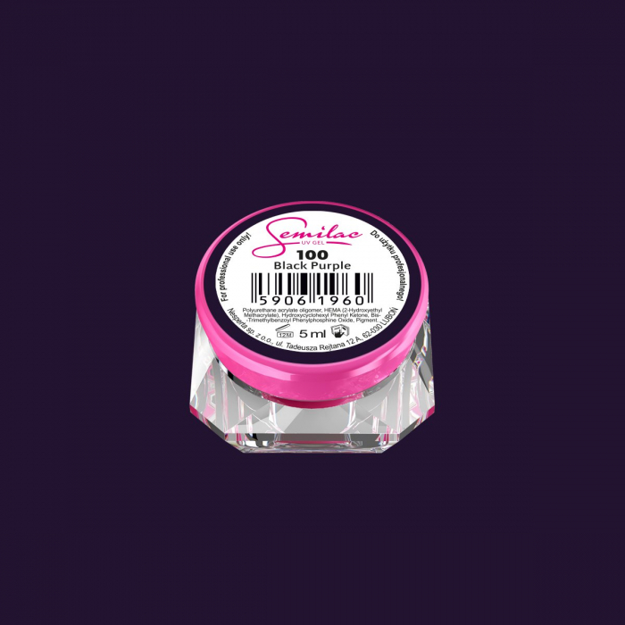 Gel Color Semilac 100 Black Purple [0]