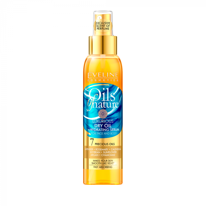 Ser pentru fata si corp Eveline Luxurious Dry Oil + Hydrating Serum 125ml [0]