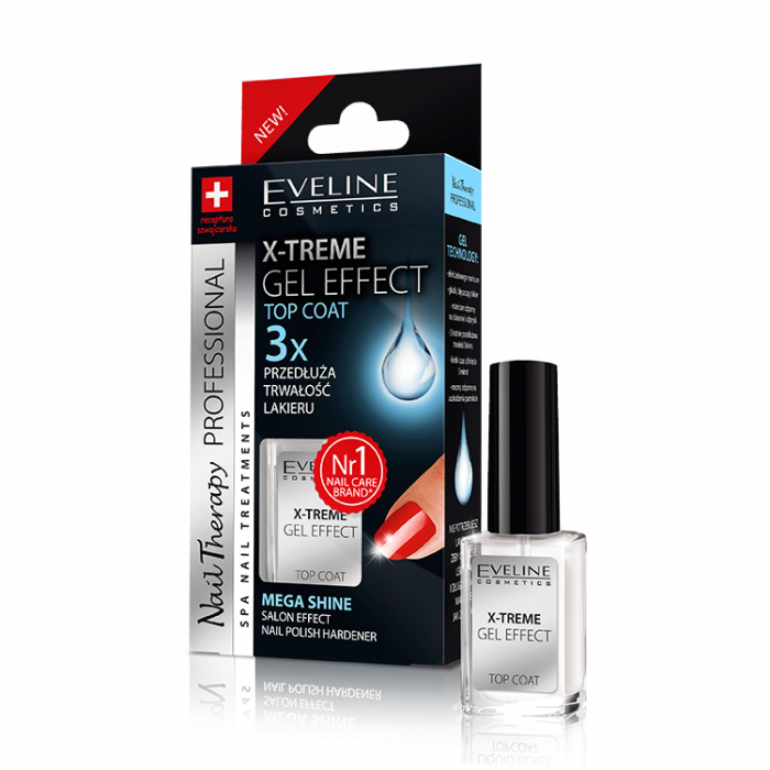 Top Coat X-Treme Gel Effect Eveline Nail Therapy 12ml [0]