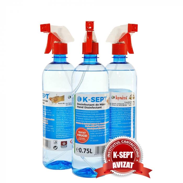 Dezinfectant lichid maini K-SEPT cu glicerina 75% alcool [0]