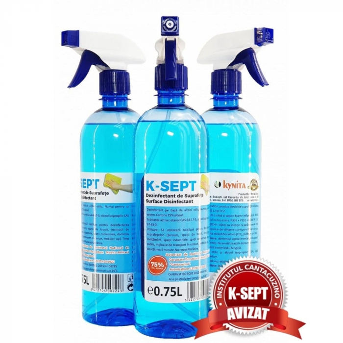 Dezinfectant suprafete lichid K-SEPT 75% alcool [0]