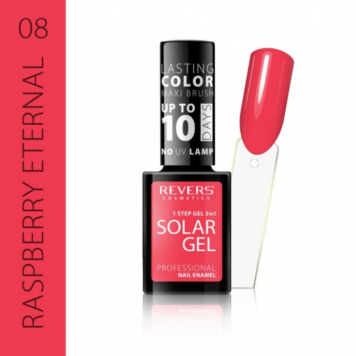 Lac de unghii Solar Gel 3 in 1 Revers 08 Raspberry Eternal 12 ml [0]