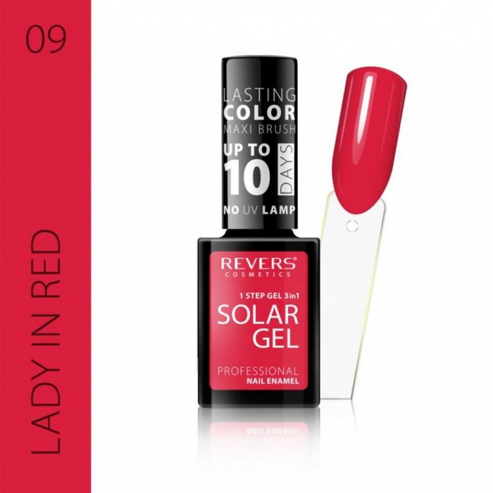 Lac de unghii Solar Gel 3 in 1 Revers 09 Lady in Red 12 ml [0]