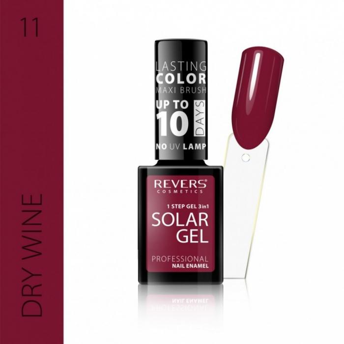 Lac de unghii Solar Gel 3 in 1 Revers 11 Dry Wine 12 ml [0]