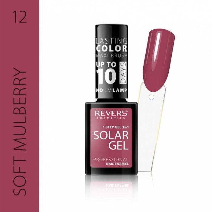 Lac de unghii Solar Gel 3 in 1 Revers 12 Soft Mulberry 12 ml [0]