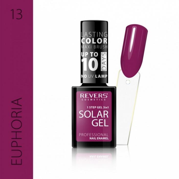 Lac de unghii Solar Gel 3 in 1 Revers 13 Euphoria 12 ml [0]