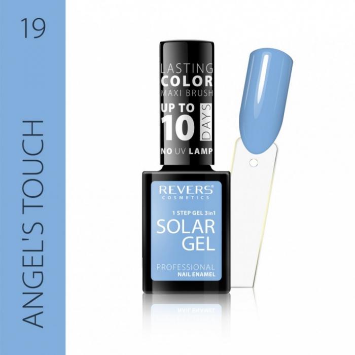 Lac de unghii Solar Gel 3 in 1 Revers 19 Angel's Touch 12 ml [0]