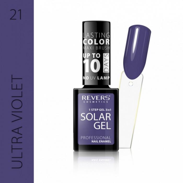 Lac de unghii Solar Gel 3 in 1 Revers 21 Ultra Violet 12 ml [0]