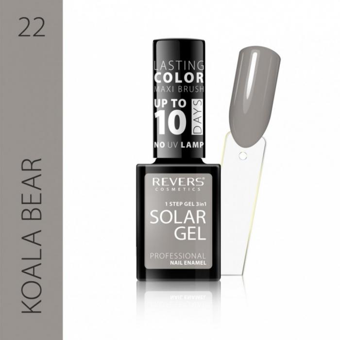 Lac de unghii Solar Gel 3 in 1 Revers 22 Koala Bear 12 ml [0]