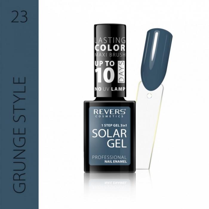 Lac de unghii Solar Gel 3 in 1 Revers 23 Grunge Style 12 ml [0]