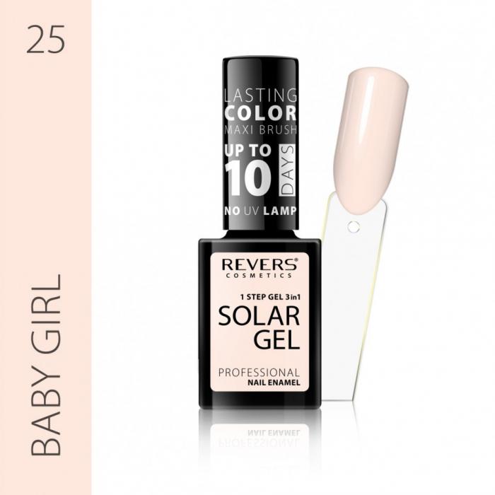 Lac de unghii Solar Gel 3 in 1 Revers 25 Baby Girl 12 ml [0]