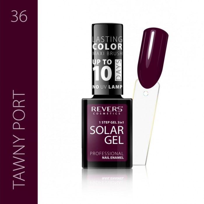 Lac de unghii Solar Gel 3 in 1 Revers 36 Tawny Port 12 ml [0]