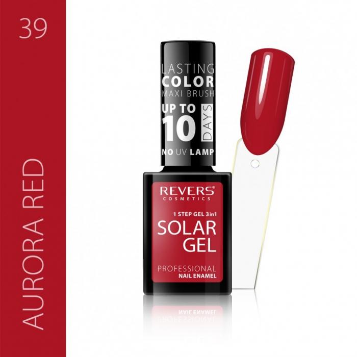 Lac de unghii Solar Gel 3 in 1 Revers 39 Aurora Red 12 ml [0]