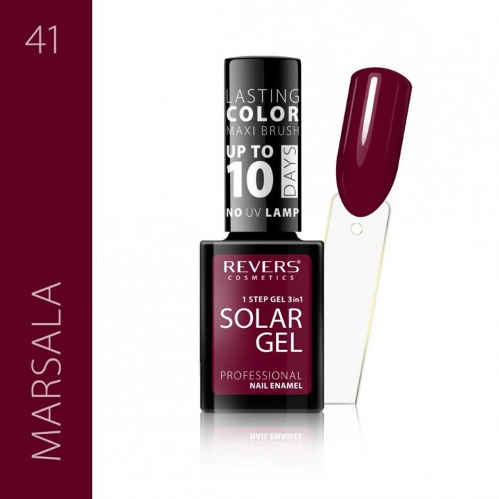 Lac de unghii Solar Gel 3 in 1 Revers 41 Marsala 12 ml [0]