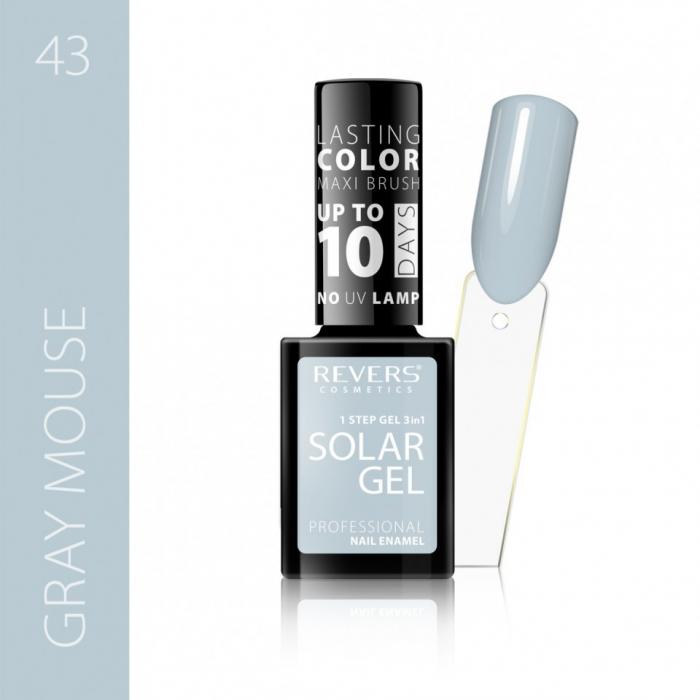Lac de unghii Solar Gel 3 in 1 Revers 43 Gray Mouse 12 ml [0]