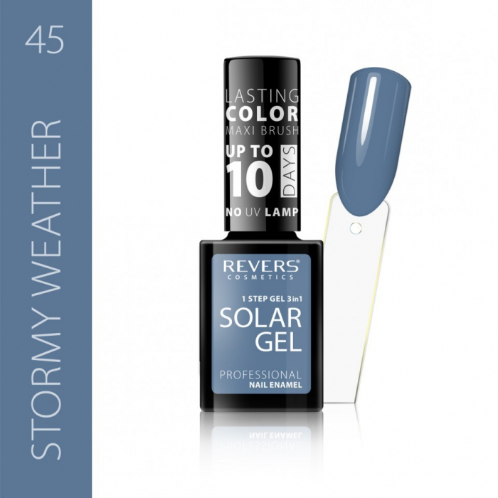 Lac de unghii Solar Gel 3 in 1 Revers 45 Stormy Weather 12 ml [0]