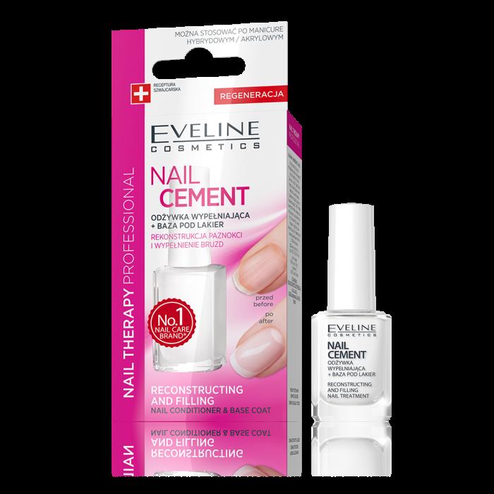 Tratament pentru reconstructia unghiilor distruse Nail Cement Eveline 12ml [0]