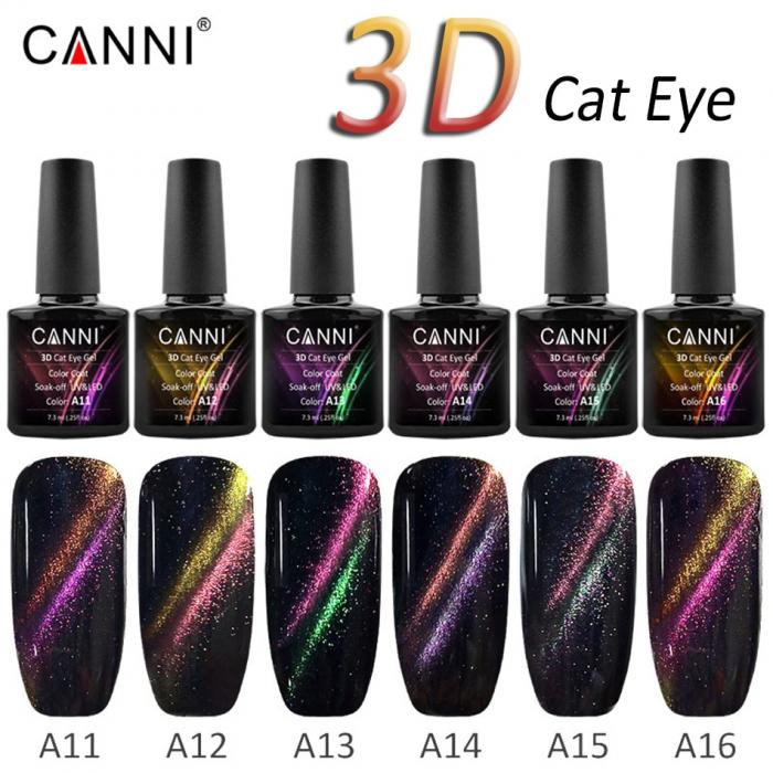Oja semipermanenta Canni 3D Cat Eyes A12 7.3 ml [1]