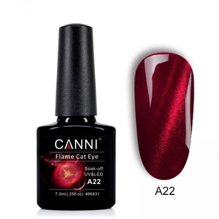 Oja semipermanenta Canni Flame Cat Eye A22 7.3 ml [0]