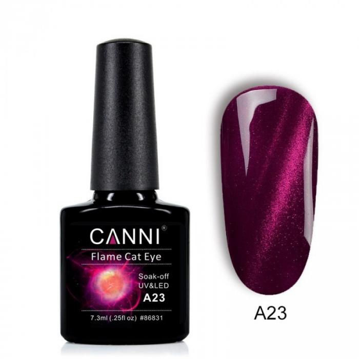 Oja semipermanenta Canni Flame Cat Eye A23 7.3 ml [0]