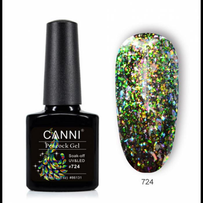Oja semipermanenta Canni Peacock 724 7.3 ml [0]