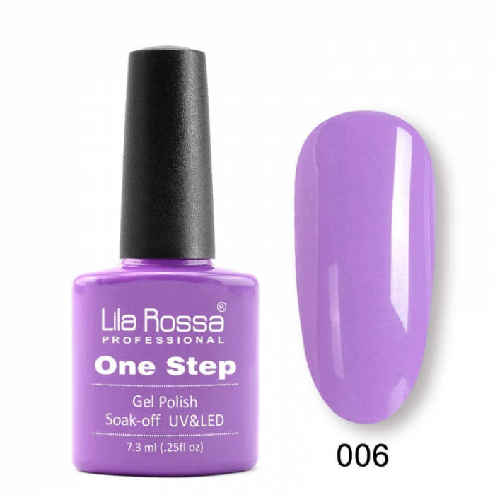 Oja semipermanenta Lila Rossa One Step 006 7.3 ml [0]